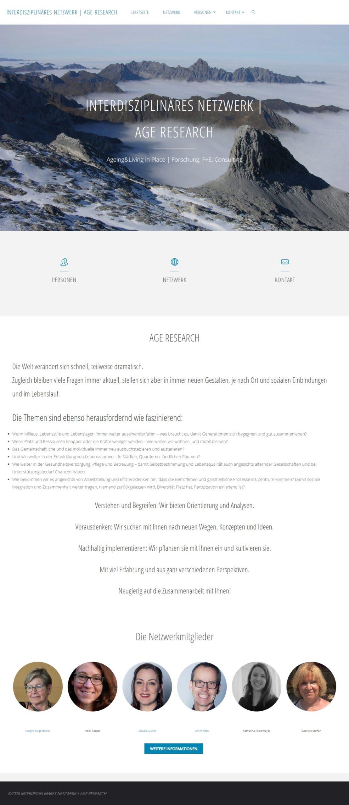 INTERDISZIPLINÄRES NETZWERK | AGE RESEARCH